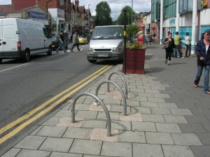 Simple Bicycle Parks in Kings Heath (Also note good paving.)