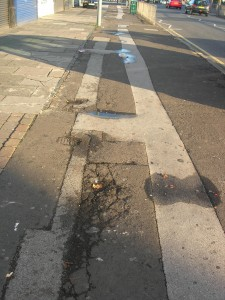 Street surfacing in Acocks Green