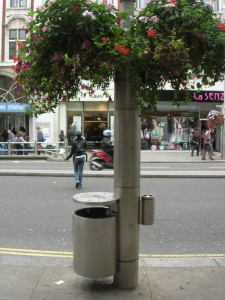 A Kensington rubbish bin.