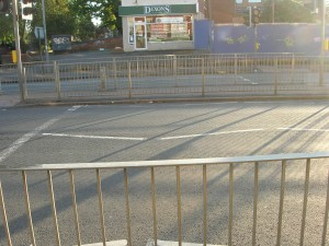 Acocks Green crossing.  Fully barriered