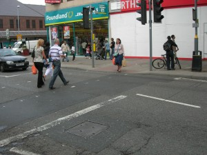 Kings Heath crossing - no barriers at all - no blood on the road!