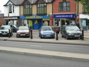 Stratford Road Shirley - The Red Route - Diagonal Parking