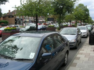 Shirley, Stratford Road Red Route, Parked Cars