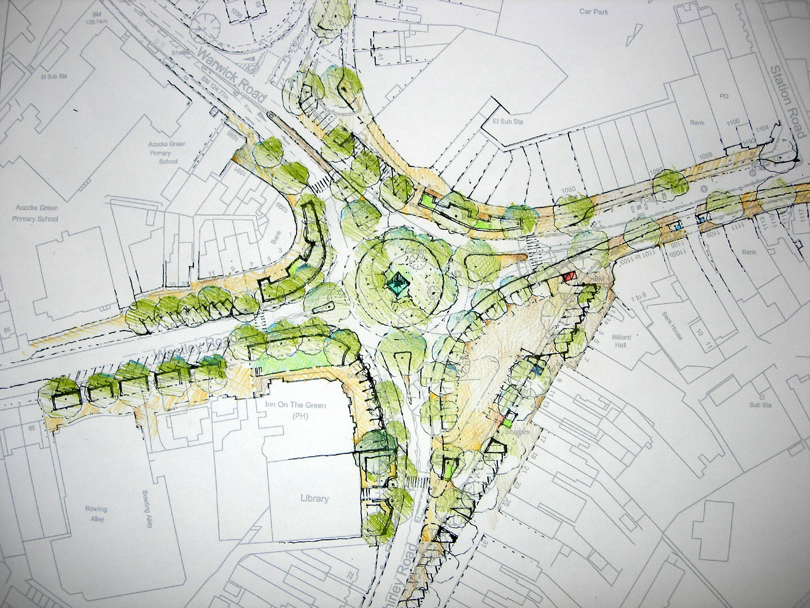 Birmingham landscape planning practice plan for acocks Green plans