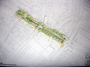 Birmingham Landscape Practice, Plan for Warwick Road, Acocks Green, March 09