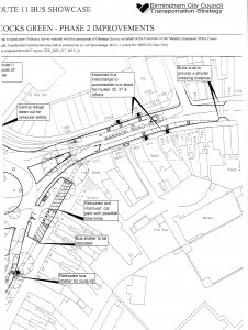 Acocks Green Route 11 Bus Showcase Scheme, 2004, Phase 2 'Improvements' - resoundlingly rejected by Acocks Green in 2004