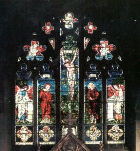 Burne-Jones Window (William Morris & Co), 1895 St Mary the Virgin, Acocks Green.  Image by Mike Byrne, reproduced from the Acocks Green History Society Website.