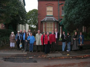 Representatives of Concerned Acocks Green Groups Stand outside 44 Flint Green Road