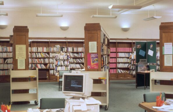 Adult Library, Radial Bookcases