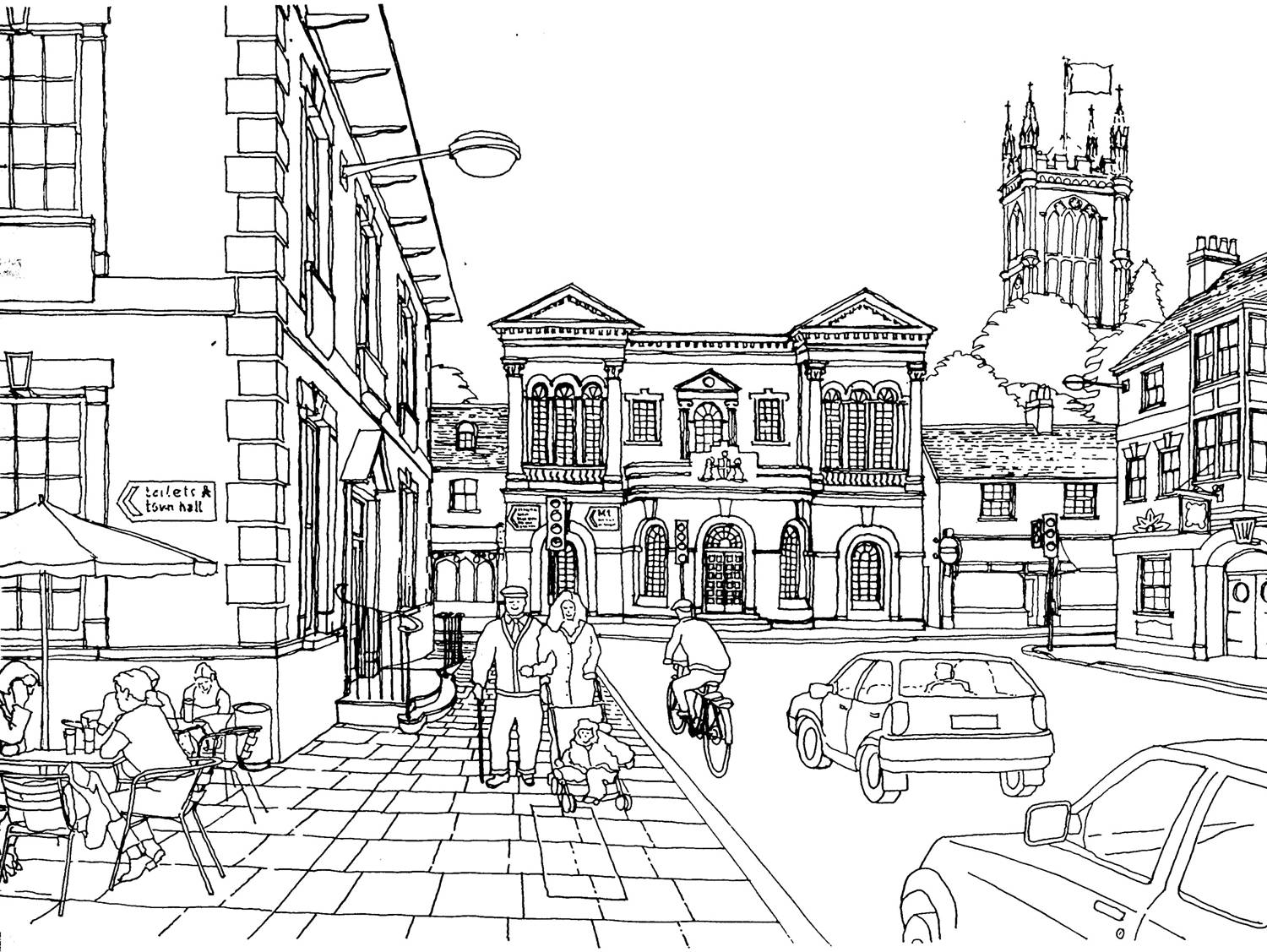London City Coloring Coloring Pages