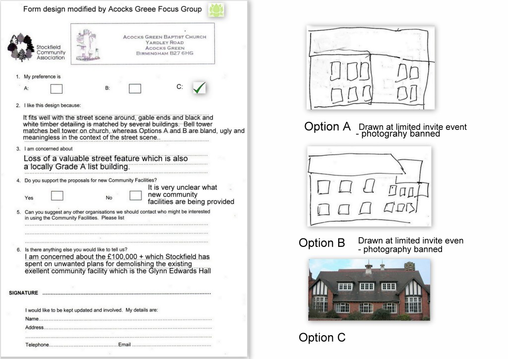 Glynn Edwards Hall - the Form with Option C & Options Images