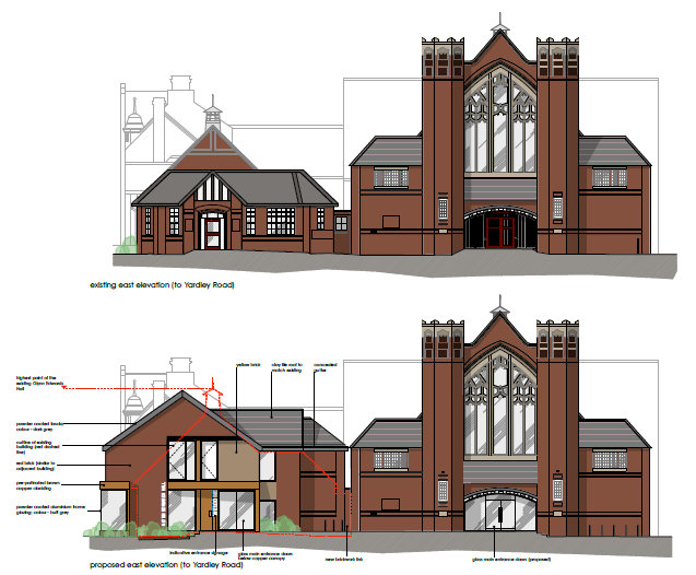 Glynn Edwards Hall PA 2013 Present & Proposed Front Elevation - cropped