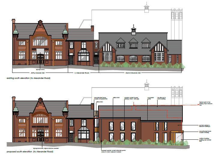 Glynn Edwards PA 2013 - present & proposed side elevation - cropped