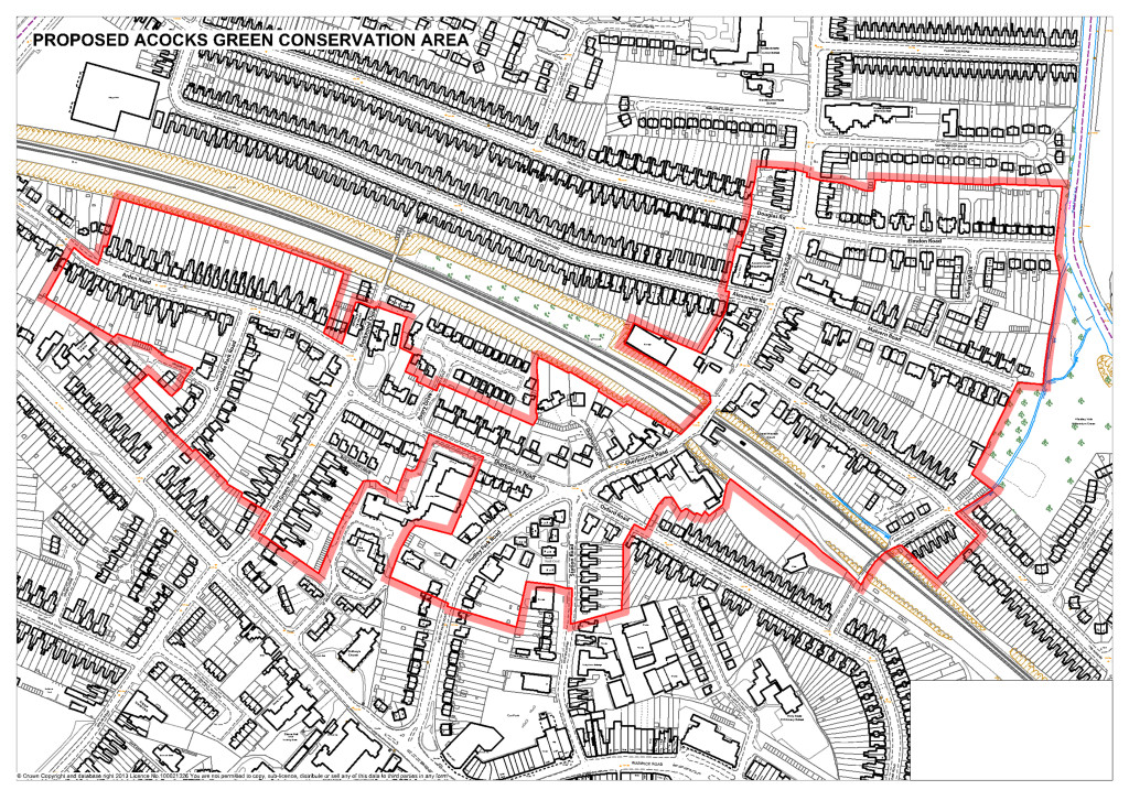Boundaries of the Proposed Acocks Green Conservation Area
